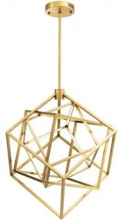 Casa Padrino Designer LED Kronleuchter Antik Messingfarben 82 x 78 x H. 82 cm - Moderner Luxus Kronleuchter - Luxus Möbel