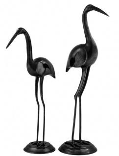 Casa Padrino Luxus Bronzefiguren Störche 2er Set - Edel & Prunkvoll - Vorschau 2