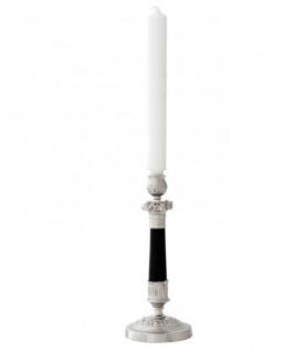 Casa Padrino Luxus Kerzenständer vernickelt London - schwere Ausführung - Kerzenhalter Kerzenleuchter