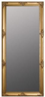 Casa Padrino Barock Wandspiegel Gold 72 x H. 162 cm - Handgefertigter Barock Spiegel mit Holzrahmen und wunderschönen Verzierungen