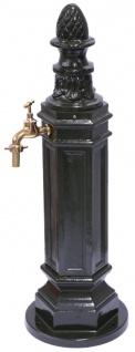 Casa Padrino Jugendstil Wassersäule / Wasserzapfsäule Dunkelgrün H. 100 cm - Gartenmöbel & Deko