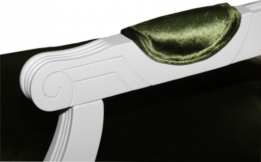 Casa Padrino Barock Esszimmer Stuhl mit Armlehne Grün / Weiß - Designer Stuhl - Luxus Qualität GH - Vorschau 3