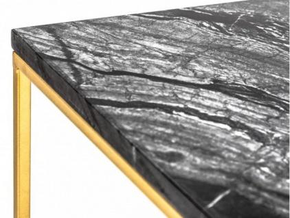 Casa Padrino Designer Beistelltisch mit Marmorplatte Schwarz / Gold 30 x 30x H.45 - Wohnzimmermöbel - Vorschau 4