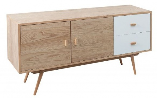 Casa Padrino Designer Kommode - Fernsehschrank Natur 150cm x 40cm x H.71cm - Sideboard