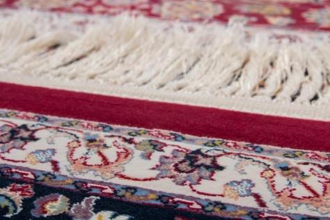 Casa Padrino Luxus Teppich mit Fransen Rot - Verschiedene Größen - Gemusterter Wohnzimmer Teppich - Deko Accessoires - Vorschau 3