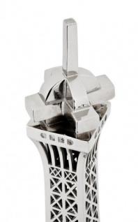 Casa Padrino Luxus Standleuchte Eiffelturm Silber - Massives vernickeltes Metall - Leuchte Lampe - Tischleuchte Tischlampe, Stehleuchte, Stehlampe - Vorschau 5