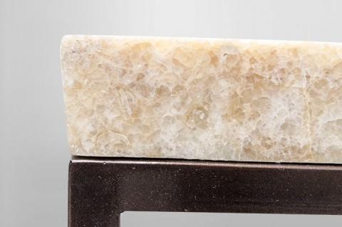 Casa Padrino Art Deco Beistelltisch Onyx / Metall 60 x 40 cm- Jugendstil Tisch - Möbel Konsole - Vorschau 3