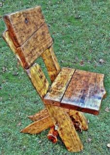 Casa Padrino Gartenmöbel Set Rustikal Tisch + 4 Garten Stühle - Eiche Massivholz - Echtholz Möbel Massiv - Vorschau 2