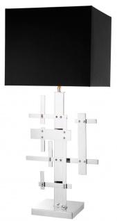 Casa Padrino Designer Hotel Tischlampe Silber - Luxus Wohnzimmer Tischleuchte