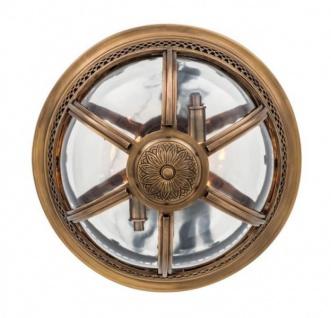 Casa Padrino Luxus Deckenleuchte Antik Messing Durchmesser 45 x H 30 cm Antik Stil - Möbel Lüster Deckenlampe - Vorschau 5