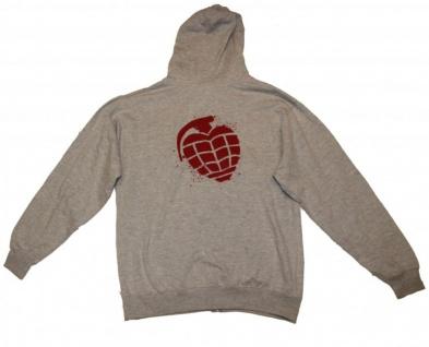 Fallen Skateboard Pullover Hoodie Zip Grey sweater - Vorschau 3