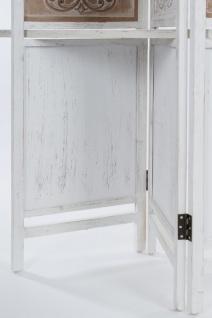 Casa Padrino Landhausstil Raumteiler mit 3 Regalen Antik Weiß / Antik Braun 155 x 2 x H. 181 cm - Shabby Chic Paravent Sichtschutz Trennwand - Vorschau 5
