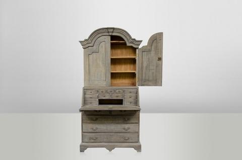 Casa Padrino Luxus Sekretär Schrank- Paternoster - Massiv England Grey Wood - Antik Stil - Empire Jugendstil Barock Kolonial - Massivholz - wirkt wie eine echte