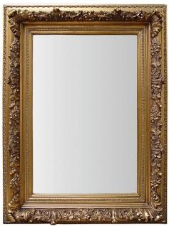 Casa Padrino Barock Wandspiegel Gold H 60 x B 50 cm - Edel & Prunkvoll - Vintagelook - Antik Stil Spiegel Prunkspiegel