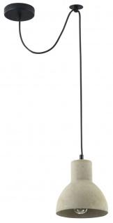 Casa Padrino Hängeleuchte / Pendelleuchte Grau Ø 16 x H. 16 cm - Moderne Leuchte mit Beton Lampenschirm