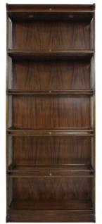 Casa Padrino Luxus Mahagoni Bücherschrank mit 5 Glastüren und LED Beleuchtung Dunkelbraun 90 x 39 x H. 223 cm - Luxus Büromöbel - Vorschau 4