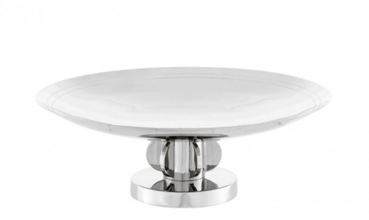 Casa Padrino Luxus Tablett Nickel Finish 35, 5 x H. 12, 5 cm - Luxus Kollektion