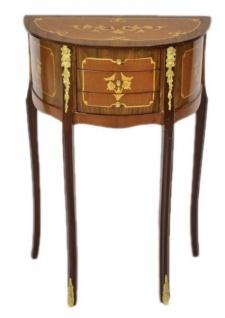 Casa Padrino Barock Kommode Mahagoni Intarsien / Gold mit 3 Schubladen - Nachtschrank Antik Stil