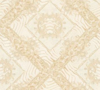 Versace Designer Barock Vliestapete Vasmare 349044 Creme / Beige - Hochwertige Qualität - Deko Accessoires