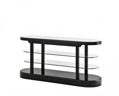 Casa Padrino Luxus Birkenholz Konsole Schwarz 180 x 57 x H. 87, 5 cm - Luxus Qualität