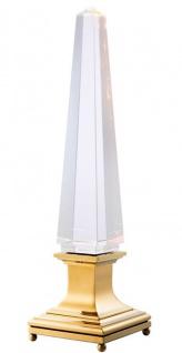Casa Padrino Designer Tischleuchte 21, 5 x H. 80 cm - Luxus Tischlampe