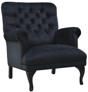 Casa Padrino Luxus Chesterfield Samt Sessel 82 x 75 x H. 93 cm - Verschiedene Farben - Chesterfield Wohnzimmermöbel