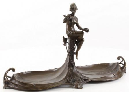 Casa Padrino Jugendstil Doppel Serviertablett Bronze 43, 9 x 16, 9 x H. 25 cm - Gastronomie Accessoires