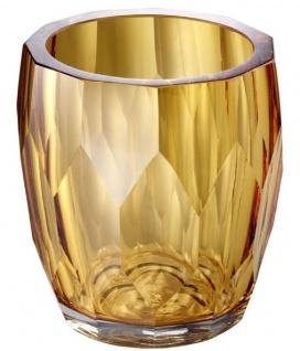 Casa Padrino Luxus Deko Glas Vase Gelb Ø 12 x H. 14 cm - Luxus Qualität - Vorschau 2