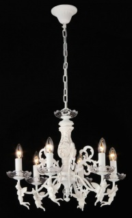 Casa Padrino Barock Decken Kristall Kronleuchter Cream Gold 54 x H 43 cm Antik Stil - Möbel Lüster Leuchter Hängeleuchte Hängelampe