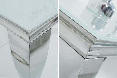 Casa Padrino Designer Konsole 140 cm Weiss / Silber - Modern Barock - Vorschau 3