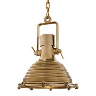Casa Padrino Hängeleuchte Deckenleuchte Messing Industrial Design 48 x H 64 cm - Industrie Lampe Leuchte Industrieleuchte