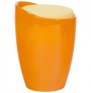 Casa Padrino Designer Hocker Orange mit Sitzpolster und Stauraum unter dem Sitz - Vorschau 3