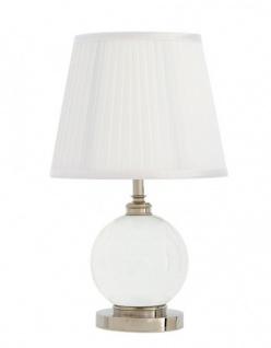 Casa Padrino Luxus Tischleuchte Nickel Durchmesser 11 x 25 x H 42 cm - Luxus Hotel Leuchte