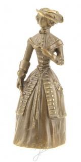 Casa Padrino Jugendstil Tischglocke Lady Bronze / Gold 5, 5 x H. 13, 8 cm - Tischklingel Service Glocke aus Bronze - Hotel & Gastronomie Accessoires