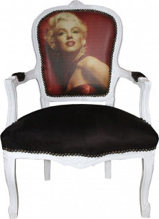 Casa Padrino Barock Salon Stuhl Marilyn Monroe - Barock Antik Stil Möbel - Mod3 - Limited Edition