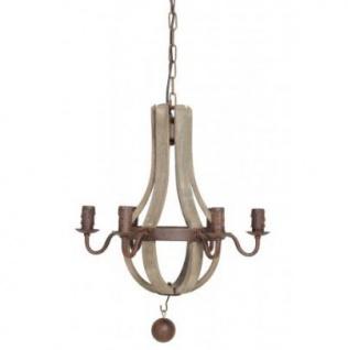 Casa Padrino Hängeleuchte Deckenleuchte Braun Durchmesser 45 cm - Möbel Lüster Leuchter Deckenleuchte Deckenlampe