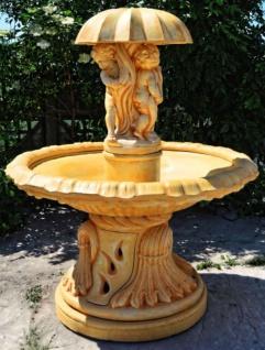 Casa Padrino Jugendstil Springbrunnen Ø 145 x H. 176 cm - Gartenbrunnen im Jugendstil