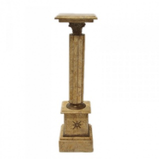 Säule aus Marmor im Barockstil cream Höhe: 100cm, Breite: 30cm, Tiefe: 30 cm - Marmorsäule