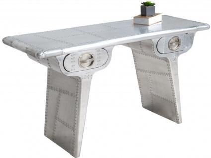 Casa Padrino Art Deco Aluminium Tisch - Flugzeug / Flieger Möbel Schreibtisch Mod1
