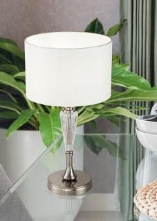Casa Padrino Tischleuchte Silber / Weiß Ø 26, 5 x H. 46 cm - Elegante Tischlampe im Neoklassischen Stil - Vorschau 3