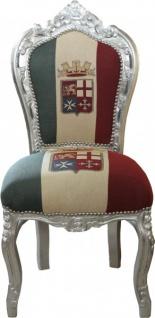 Casa Padrino Barock Esszimmer Stuhl Italien / Silber Antik Stil