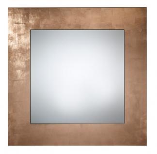 Casa Padrino Luxus Spiegel Kupferfarben 85 x H. 85 cm - Wohnzimmermöbel