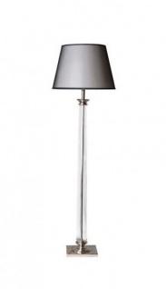 Casa Padrino Luxus Stehleuchte Nickel Durchmesser 10 x 50 x H 159 cm - Luxury Collection