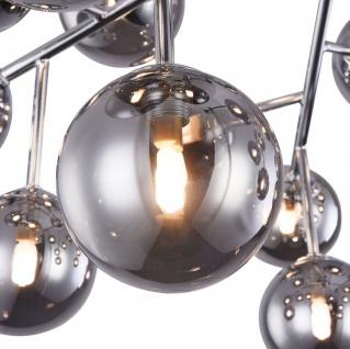 Casa Padrino Wohnzimmer Deckenleuchte Silber Ø 75 x H. 25 cm - Deckenlampe mit kugelförmigen Lampenschirmen - Vorschau 3
