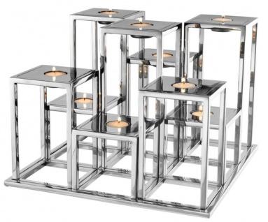 Casa Padrino Luxus Edelstahl Teelichthalter - Designer Hoteleinrichtung