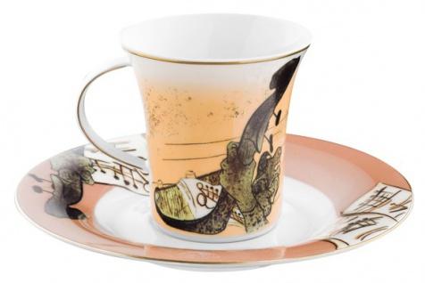 """Handgearbeitete Kaffeetasse aus Porzellan mit einem Motiv von T. Lautrec """" Jane Avril"""" 0, 21 Ltr. - feinste Qualität aus der Tettau Porzellanfabrik - wunderschöne Tasse - Vorschau 2"""