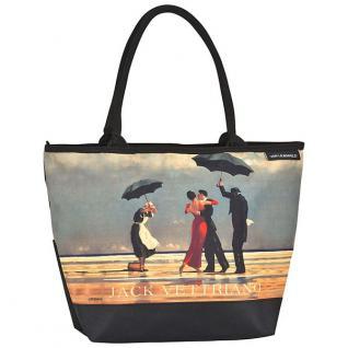 Designer Shoppertasche mit dem Motiv des schottischen Künstlers Jack Vettriano - Elegante Tasche - Luxus Design