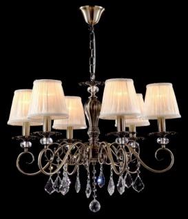 Casa Padrino Barock Decken Kronleuchter Kristall Bronze 66 x H 52 cm Antik Stil - Möbel Lüster Leuchter Hängeleuchte Hängelampe