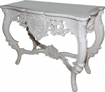 Casa Padrino Luxus Barock Konsolentisch Weiss - Konsole Tisch Beistelltisch - Vorschau 3