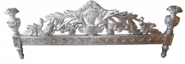 Casa Padrino Luxus Barock Bett Antik Rosa / Silber - Luxus Bett - Antik Look - Vorschau 3